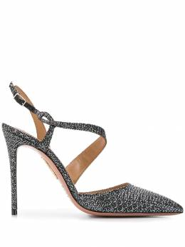Aquazzura - metallic jacquard pointed toe pumps HIGP6SDN666953555800