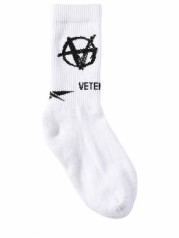 Anarchy New Logo Cotton Blend Socks Vetements 70IW3L012-V0hJVEU1