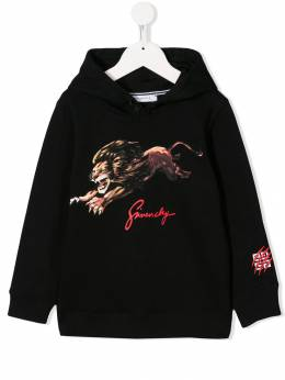 Givenchy Kids - loose-fit lion print hoodie 93569B95959895000000