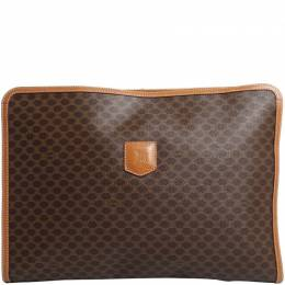 Celine Brown Macadam Clutch Bag 216703