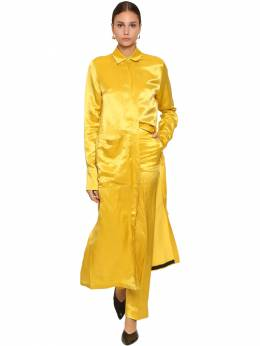 Long Shiny Viscose Shirt Dress Jil Sander 70I0HU009-NzE10