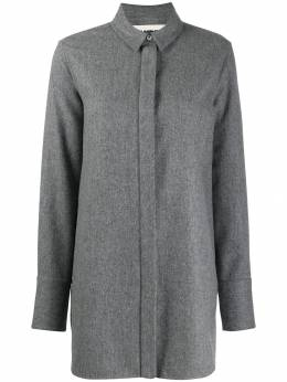 Jil Sander - oversized wool blend shirt P666363WP090566A9533