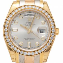 Rolex Tridor Gold Pearlmaster Special Edition Daydate Watch 39MM 217940
