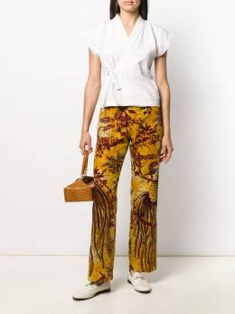 F.R.S For Restless Sleepers - printed straight-leg trousers 60686TE6638595365350