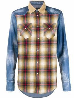 Dsquared2 - check panelled shirt DM6335S3635995338335