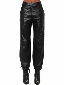 Baggy Leather Pants Off-White 70I4T8045-MTAwMA2