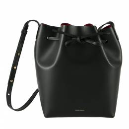 Mansur Gavriel Black Leather Bucket Bag 204002