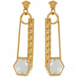 Versace Gold Safety Pin Earrings 192404F02203501GB