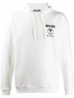 Moschino - double exclamation point print hooded sweater 66500395333399000000