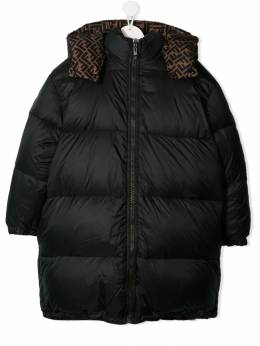 Fendi Kids - TEEN reversible hooded padded jacket 669A5RT9536030600000