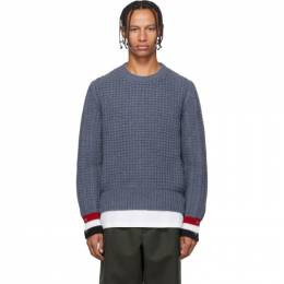 Thom Browne Blue Funmix Stitch Chunky Sweater 192381M20104101GB