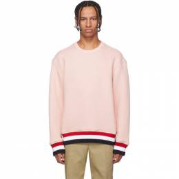 Thom Browne Pink RWB Trim Oversized Sweatshirt 192381M20401006GB