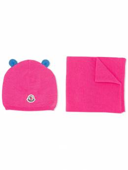 Moncler Kids - knitted hat and scarf set 6566A909395356565000