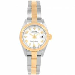 Rolex White 18K Yellow Gold and Stainless Steel Datejust 79163 Women's Wristwatch 26MM 219150