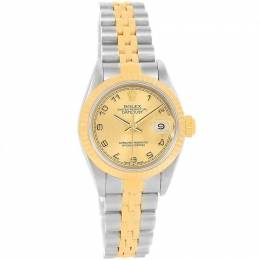 Rolex Champagne 18K Yellow Gold and Stainless Steel Datejust 79173 Women's Wristwatch 26MM 219152