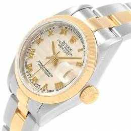 Rolex Ivory Jubilee 18K Yellow Gold and Stainless Steel Datejust 79173 Women's Wristwatch 26MM 219155