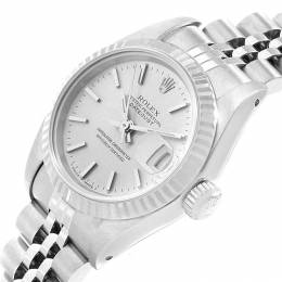 Rolex Silver 18K White Gold and Stainless Steel Datejust 69174 Women's Wristwatch 26MM 219138