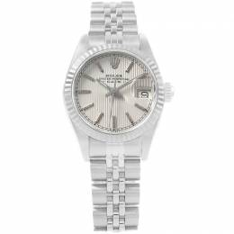 Rolex Silver 18K White Gold and Stainless Steel Datejust 69174 Women's Wristwatch 26MM 219139