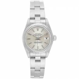 Rolex Silver 18K White Gold and Stainless Steel Datejust 69174 Women's Wristwatch 26MM 219140