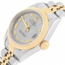 Rolex Slate 18K Yellow Gold and Stainless Steel Datejust 79163 Women's Wristwatch 26MM 219148
