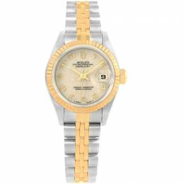 Rolex Ivory Jubilee 18K Yellow Gold and Stainless Steel Datejust 69173 Women's Wristwatch 26MM 219130