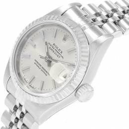 Rolex Silver 18K White Gold and Stainless Steel Datejust 69174 Women's Wristwatch 26MM 219137
