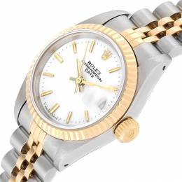 Rolex White 18K Yellow Gold and Stainless Steel Datejust 69173 Women's Wristwatch 26MM 219134
