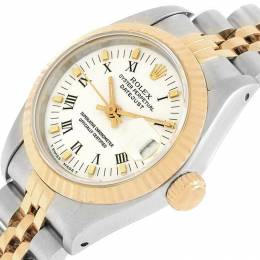 Rolex White 18K Yellow Gold and Stainless Steel Datejust 69173 Women's Wristwatch 26MM 219135