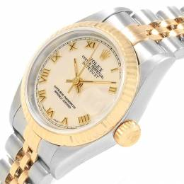 Rolex Ivory 18K Yellow Gold and Stainless Steel Datejust 69173 Women's Wristwatch 26MM 219129