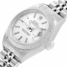 Rolex Silver 18K White Gold and Stainless Steel Datejust 79174 Women's Wristwatch 26MM 219162