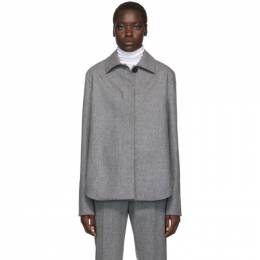 Jil Sander Grey Boxy Shirt 192249F10900101GB
