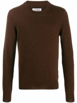 Maison Margiela - elbow patches crew neck knitted sweater HA6836S9689595335090