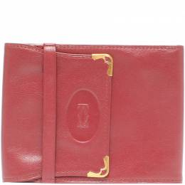 Cartier Red Leather Two-folded Must de Cartier Wallet 218794