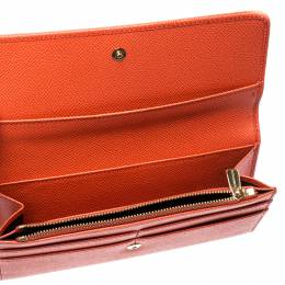 Dolce&Gabbana Orange Leather Dauphine Continental Wallet 218547