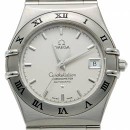 Omega White Dial Stainless Steel Constellation Automatic Watch 34MM 219781