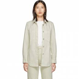Lemaire Off-White Fitted Overshirt 192646F06000304GB