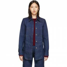 Lemaire Indigo Fitted Overshirt 192646F06000105GB
