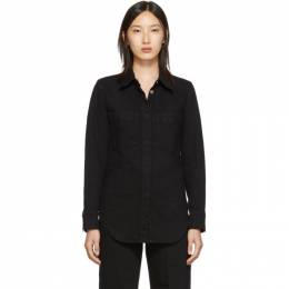 Lemaire Black Fitted Overshirt 192646F06000203GB