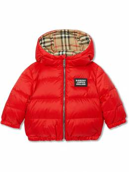 Burberry Kids - Reversible Vintage Check Down-filled Puffer Jacket 38339535868500000000
