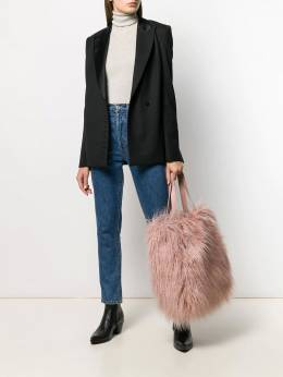 Coccinelle - textured furry tote PB996969955690360000