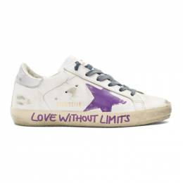 Golden Goose White Love Without Limits Superstar Sneakers 192264F12809302GB