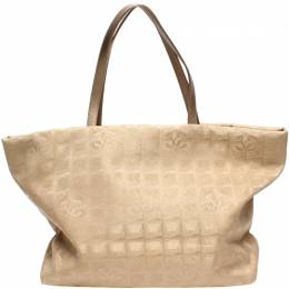 Chanel Beige Canvas Tote Bag 218848