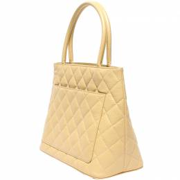 Chanel Beige Leather Tote Bag 218847