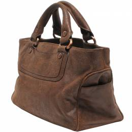 Celine Brown Leather Boogie Everyday Bag 218827