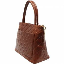 Chanel Brown Leather Tote Bag 218844