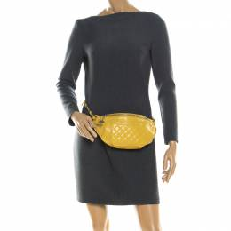 Chanel Yellow Quilted Leather Fanny Pack Waistbelt Bag 215145