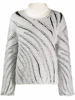 3.1 Phillip Lim - diagonal knitted stripes jumper 93399CFJ953850650000