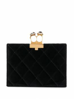 Alexander McQueen - quilted two-ring pouch 585KR5AT950333950000
