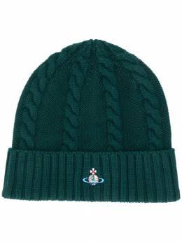 Vivienne Westwood - embroidered logo beanie TC6665S9683395563909