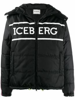 Iceberg - logo-print quilted puffer jacket O6365353955095550000